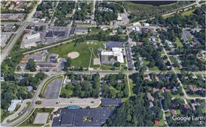 Aerial view of Haslett Middle School