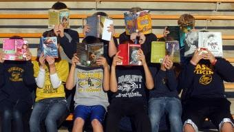 Haslett students reading books