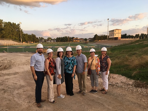 Board Members Tour Construction Sites