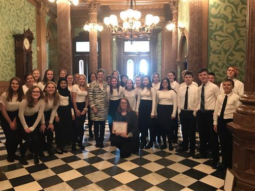Haslett Choirs Visit State Capitol