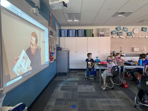 Ralya students participate in virtual visit with author.