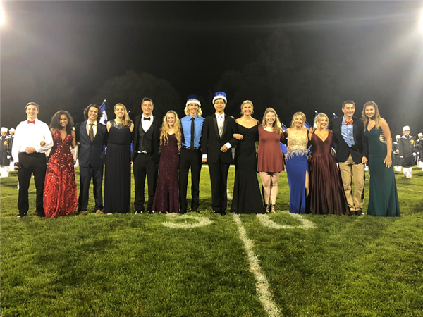 Homecoming Court at Halftime of the Football Game