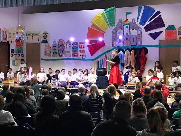 Students from Murphy perform The Colorful Kingdom.
