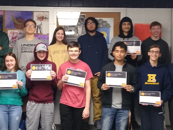 Students Receive Microsoft Certification