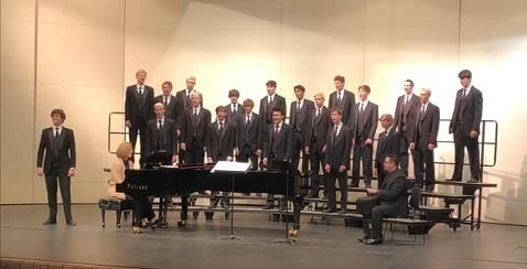 The Haslett High School Select Men's Chorale.
