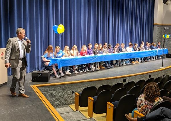 Photo:  Student athletes attend signing ceremony.