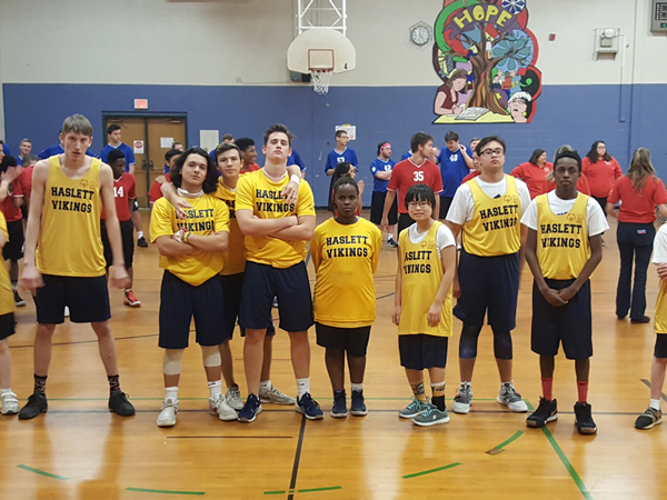 Haslett Unified Basketball Team Competes