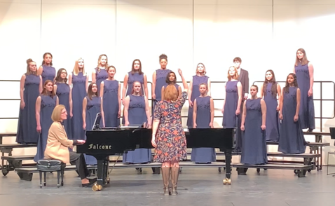 The Haslett High School Select Women's Chorale.